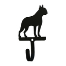 Village Wrought Iron WH-328-S Boston Terrier - Wall Hook Small