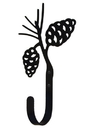 Village Wrought Iron WH-89-L Pinecone Wall Hook LG