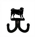 Village Wrought Iron WH-D-105 Dog - Double Wall Hook
