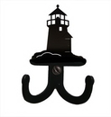 Village Wrought Iron WH-D-10 Lighthouse - Double Wall Hook