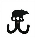 Village Wrought Iron WH-D-14 Bear - Double Wall Hook