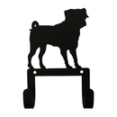 Village Wrought Iron WH-LC-327 Pug - Leash and Collar Wall Hook