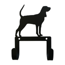 Village Wrought Iron WH-LC-332 Black&Tan Hound - Leash and Collar Wall Hook
