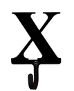 Village Wrought Iron WH-X-S Letter X - Wall Hook Small