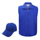 TOPTIE Clerk Activity Workwear Front Zipper Uniform Set, Vest & Cap Set
