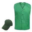 TOPTIE Front Button Vest & Adjustable Cap Set, Supermarket Formal Uniform