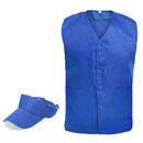 TOPTIE Front Button Vest & Adjustable Visor Cap Set, Outdoor Equipment
