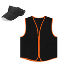 TOPTIE Unisex Uniform Set, Zipper Closure Vest And Visor Cap, Outdoor Equipment