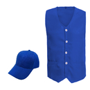 TOPTIE Volunteer Outdoor Uniform Set, Front Button Vest With 2 Pockets, Hat