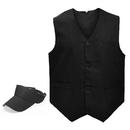 TOPTIE Solid Color Vest & Sun Visor Hat, Uniform Set For Outdoor Activity Show