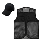 TOPTIE Summer Activity Workwear Set, Adult Mesh Zipper Vest & Baseball Cap