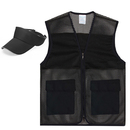 TOPTIE Summer Activity 2 Piece Set, Mesh Zipper Vest & Visor Sun Hat, 2 Pockets