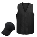 TOPTIE Adult's 2 Piece Polyester Event Vest & Sun Cap Set, Work Uniform