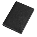 Caseti Kosmo Textured Soft Black Leather Business Card Holder