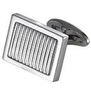 Caseti Thomas Lined Stainless Steel Cufflinks
