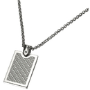 Caseti Indarra Silver Carbon Fiber Pendant with Chain