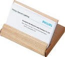 Limber Natural Maple Wood Desktop Business Card Case