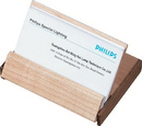 Durmast Natural Maple Wood And Walnut Desktop Business Card Case