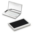 Evette Silver Plated Business Card Case - Built-in Mirror