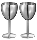 Visol Antoinette Stainless Steel Wine Glass - Set of 2