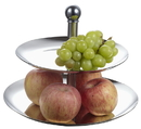 Visol 2 Tier Stainless Steel Cupcake or Fruit Stand