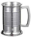 Visol Metric Glass Bottom 16 ounce Stainless Steel Beer Mug