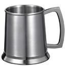 Visol Medi 16 ounce Brushed Stainless Steel Beer Mug