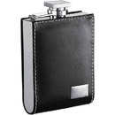 Visol Wallet Black Leatherette 6oz Liquor Flask with Engraving Plate