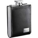 Visol Wallet Black Leatherette 6oz Liquor Flask with Engraving Plate