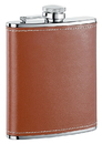 Visol Hound Brown Leather Liquor Flask - 6 ounce