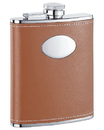 Visol Hound Brown Hip Flask - 6 oz
