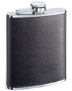 Visol Zano Black Leather Hip Flask - 6 oz