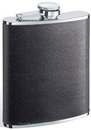 Visol Ano Black Leather 8-oz. Flask