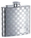 Visol Mate Checkered Stainless Steel 6oz Hip Flask