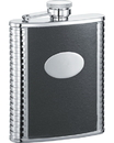 Visol Tux Black Leather 6-oz. Groomsmen Flask