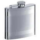 Visol Band Two-Tone Stainless Steel 6oz Hip Flask