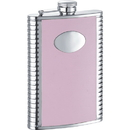 Visol Supermodel Pink Leather Hip Flask - 8oz