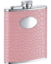 Visol Annabella Light Pink Synthetic Leather Stainless Steel 6oz Hip Flask