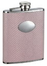 Visol Rosalyn Light Pink Snakeskin Design Stainless Steel Hip Flask - 6oz
