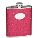 Visol Carina Red Glitter Stainless Steel Hip Flask - 6 oz
