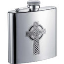Visol Celtic Cross 6oz Stainless Steel Hip Flask