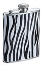 Visol Zebra Black and White Leather Liquor flask - 6 ounce