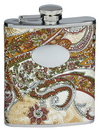 Visol Floral Paisley Pattern Stainless Steel Flask - 6 oz