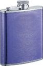 Visol Violet Purple Leather Liquor Flask - 6 ounce