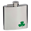 Visol Green Clover 6oz Stainless Steel Hip Flask