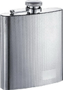 Visol Diagonal Etched Pattern Stainless Steel Hip Flask - 6oz