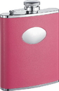 Visol Britney Hot Pink Leather Stainless Steel Hip Flask - 6oz