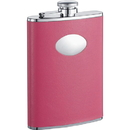 Visol Britney Hot Pink Leather Stainless Steel 8oz Hip Flask