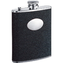Visol Stardust Black Glitter Hip Flask - 6 oz