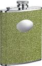 Visol Lucky Lep Green Glitter Flask For Women - 6oz